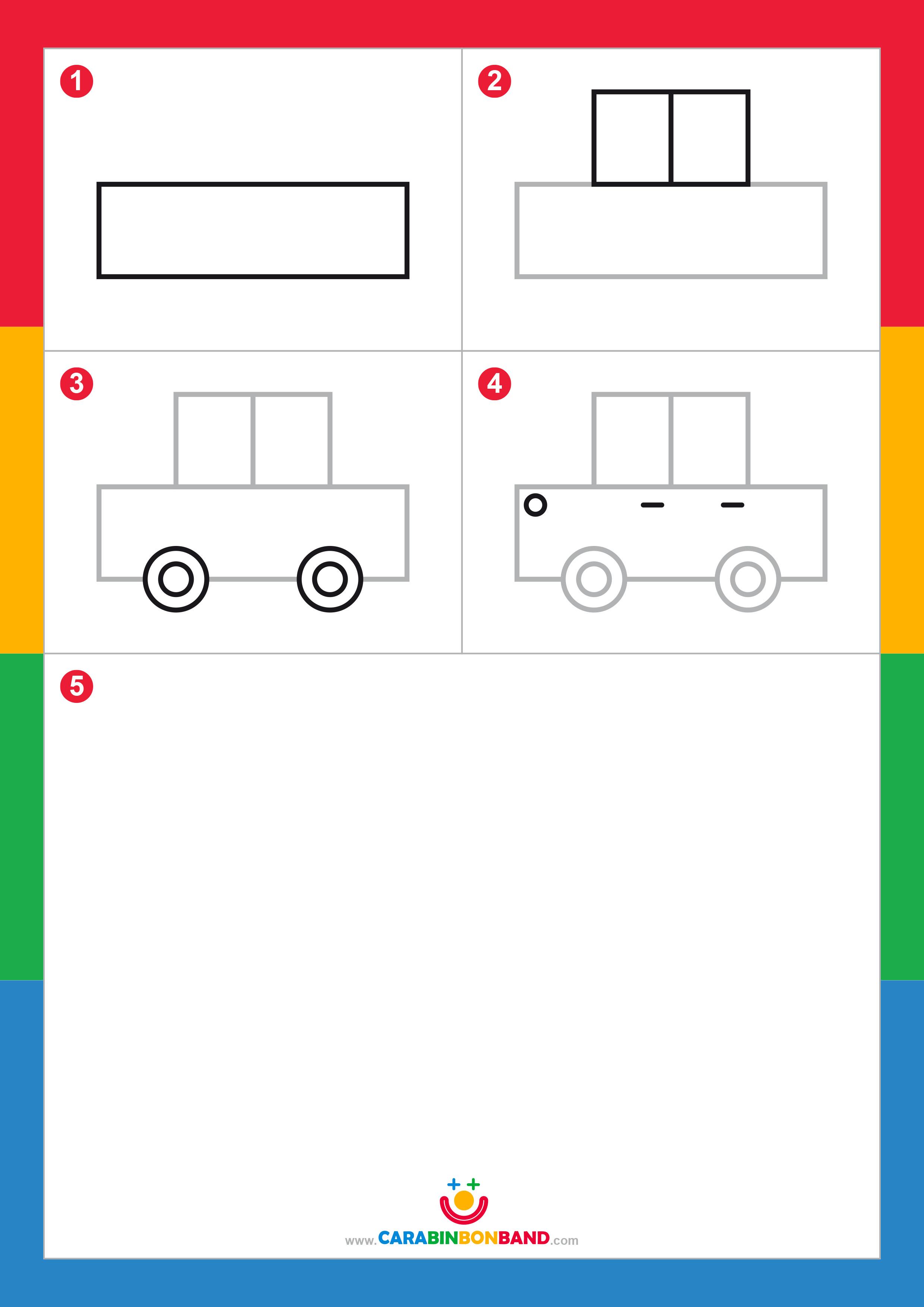 Dibujos Fáciles Cómo Dibujar Un Coche Fácil Para Niños Cara Bin