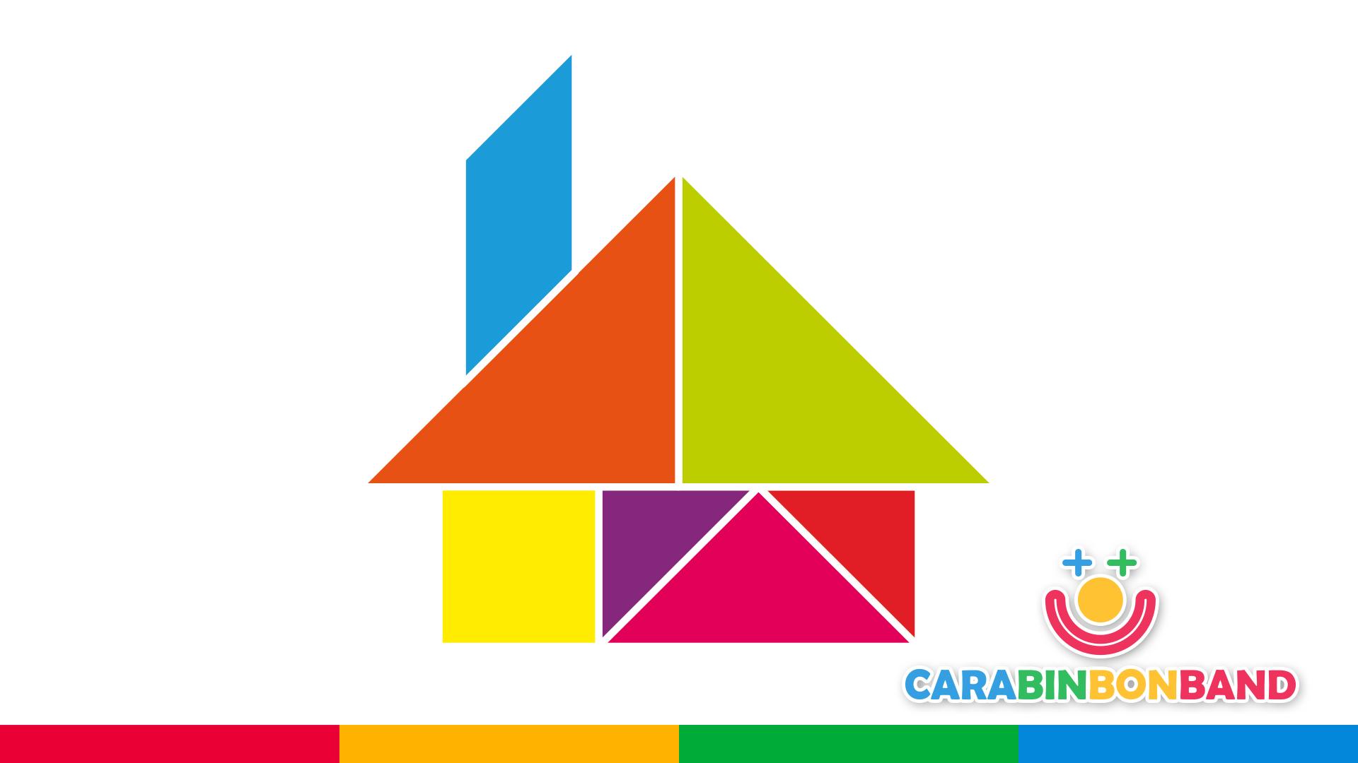 Puzzles - Tangram figuras fáciles para niños - tangram figura casa