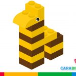 Easy LEGO constructions for children - how to make a giraffe