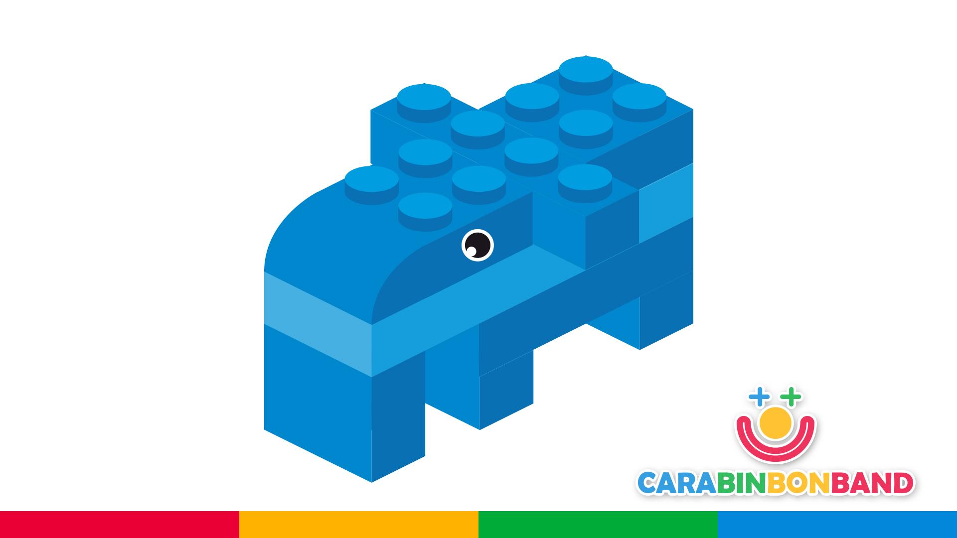Construcciones LEGO fáciles para niños - cómo hacer un elefante