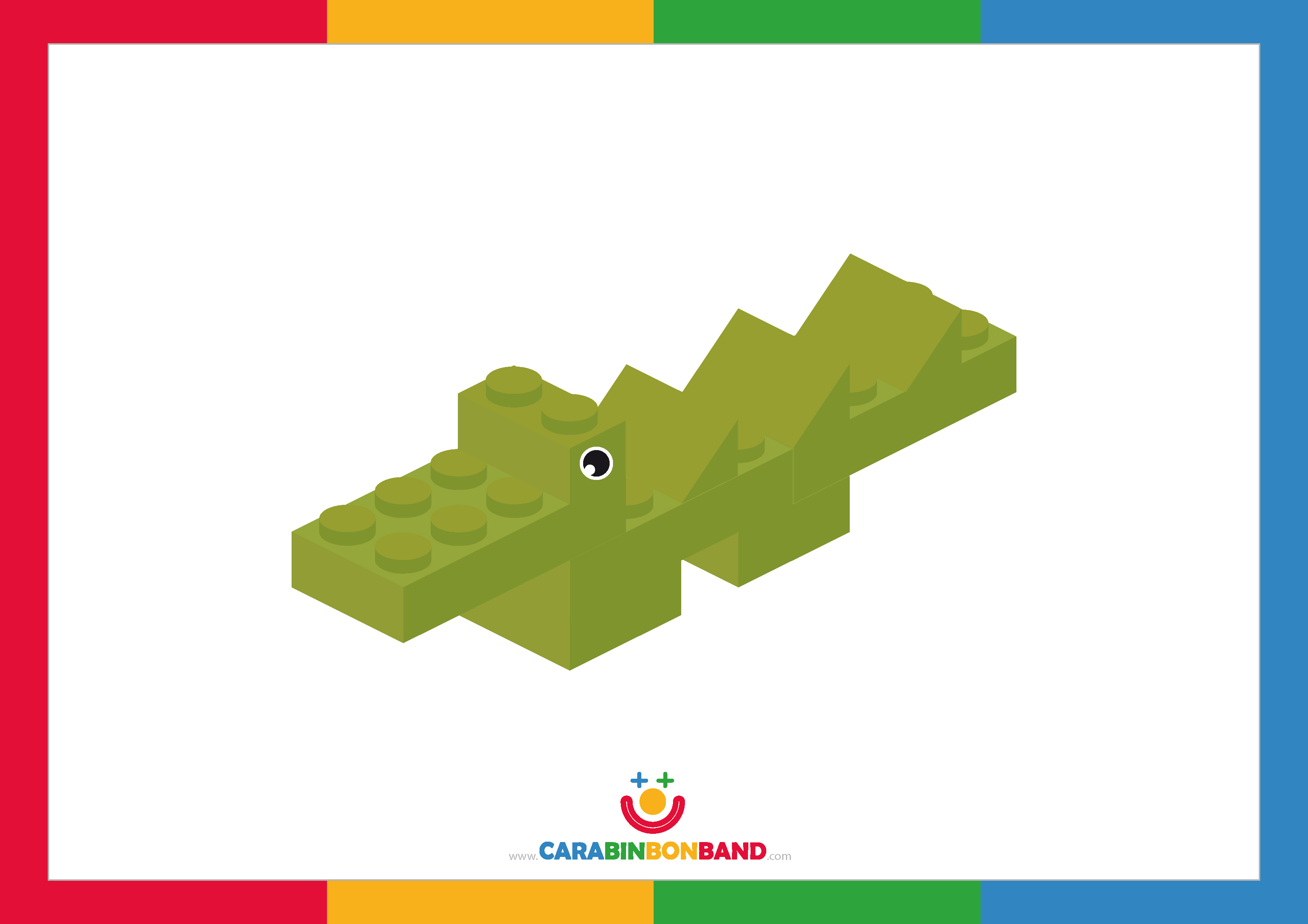Láminas decorativas: cocodrilo Lego