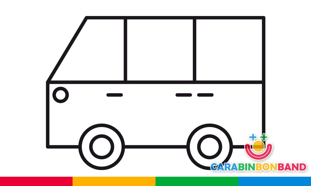 Easy drawings – how to draw a van easy for children – CARA BIN BON ...
