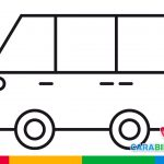 Easy drawings - how to draw a van easy for children