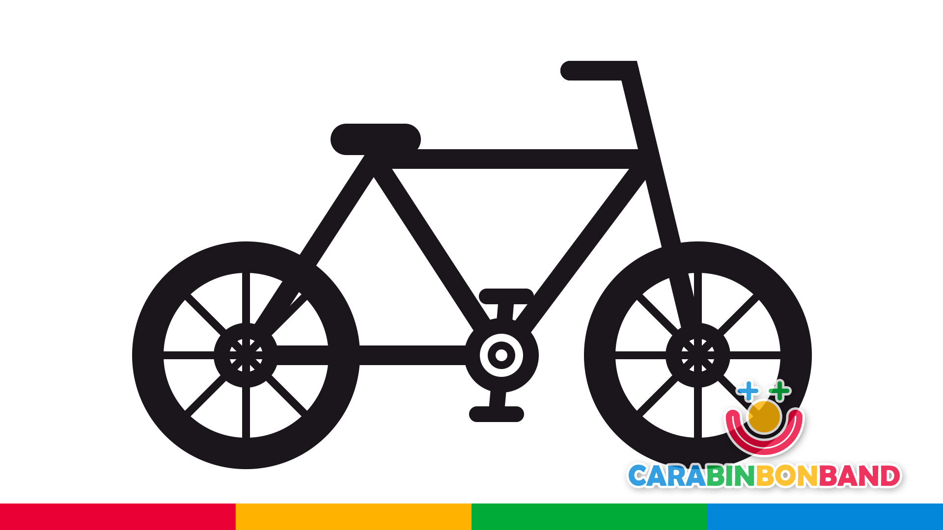 Dibujos fáciles - cómo dibujar una bicicleta fácil para niños