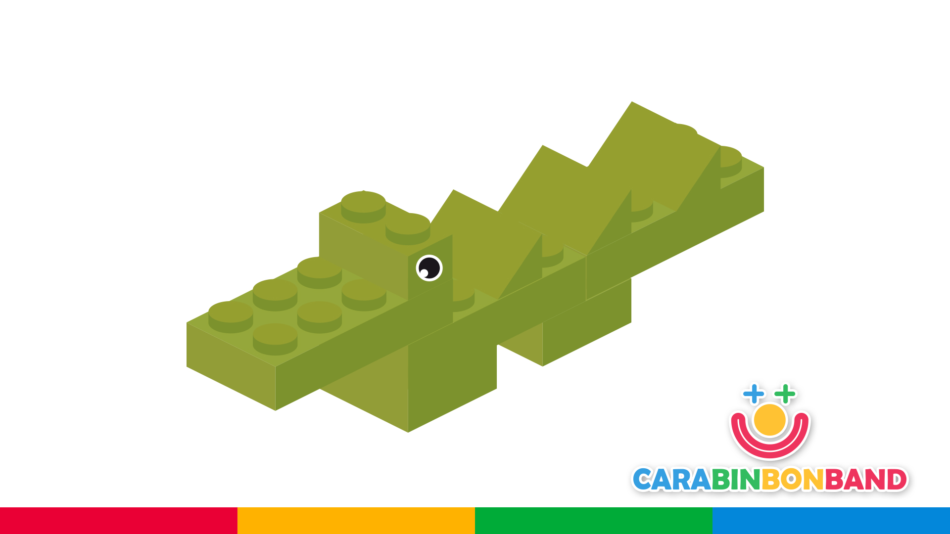 Easy LEGO constructions for children - how to make a crocodile