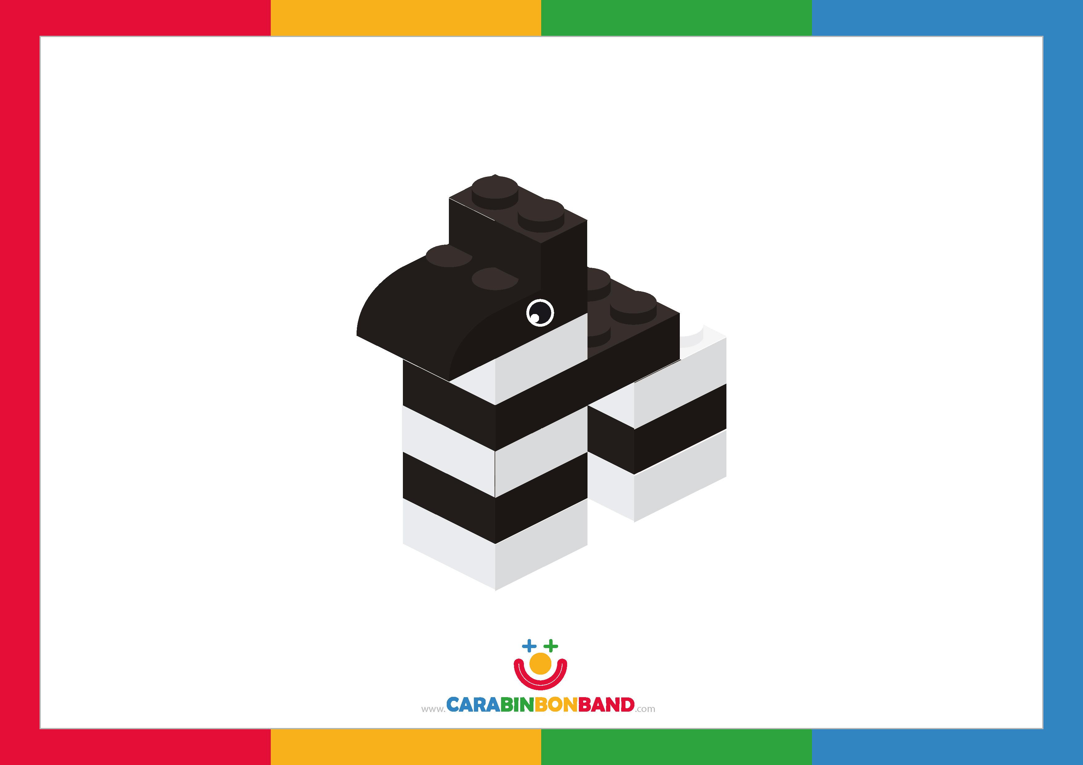 Children´s picture: Lego zebra