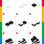 LEGO Tutorial: how to make a zebra step by step