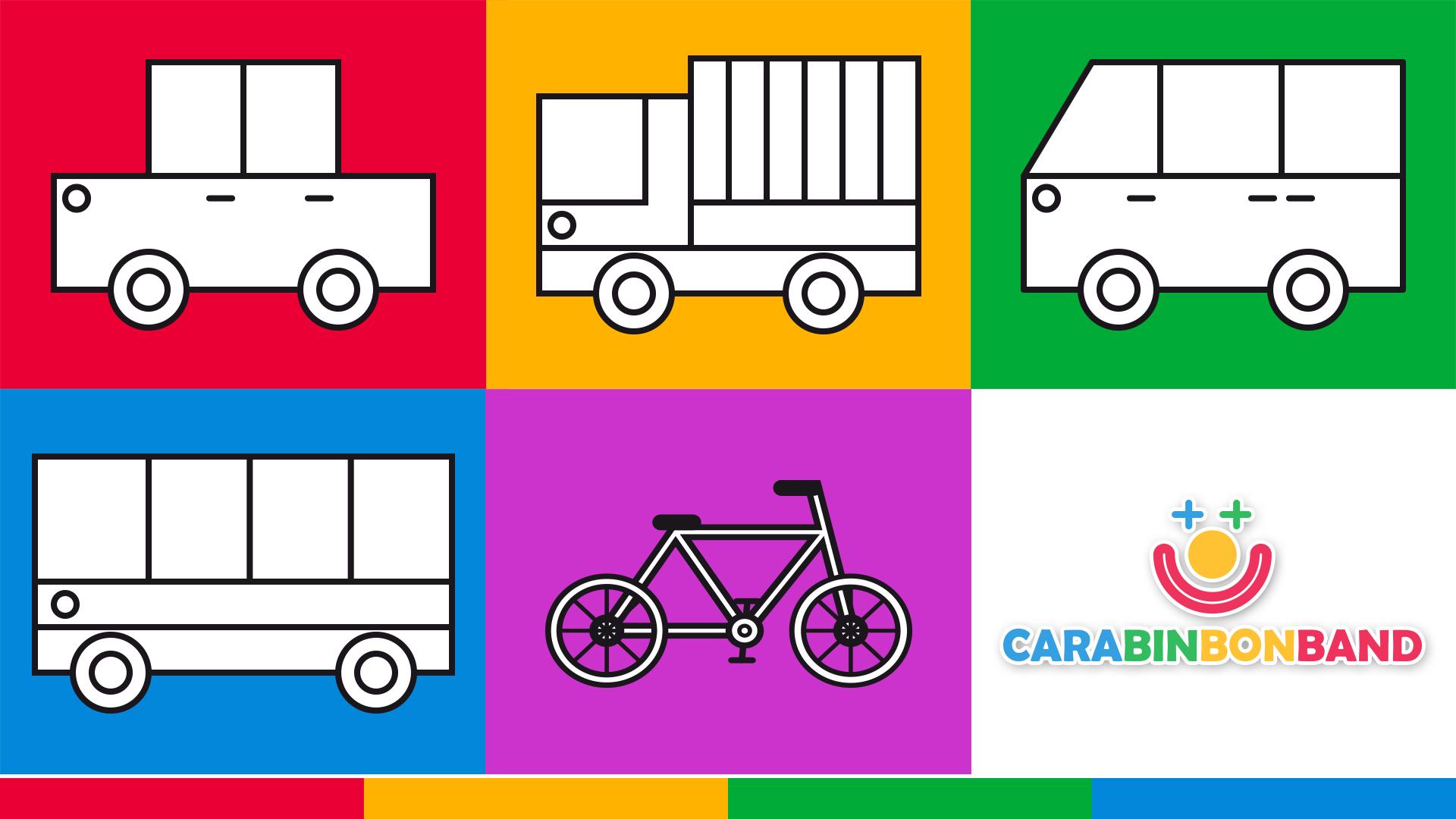 Medios de transporte para niños - cómo dibujar vehículos fácilmente