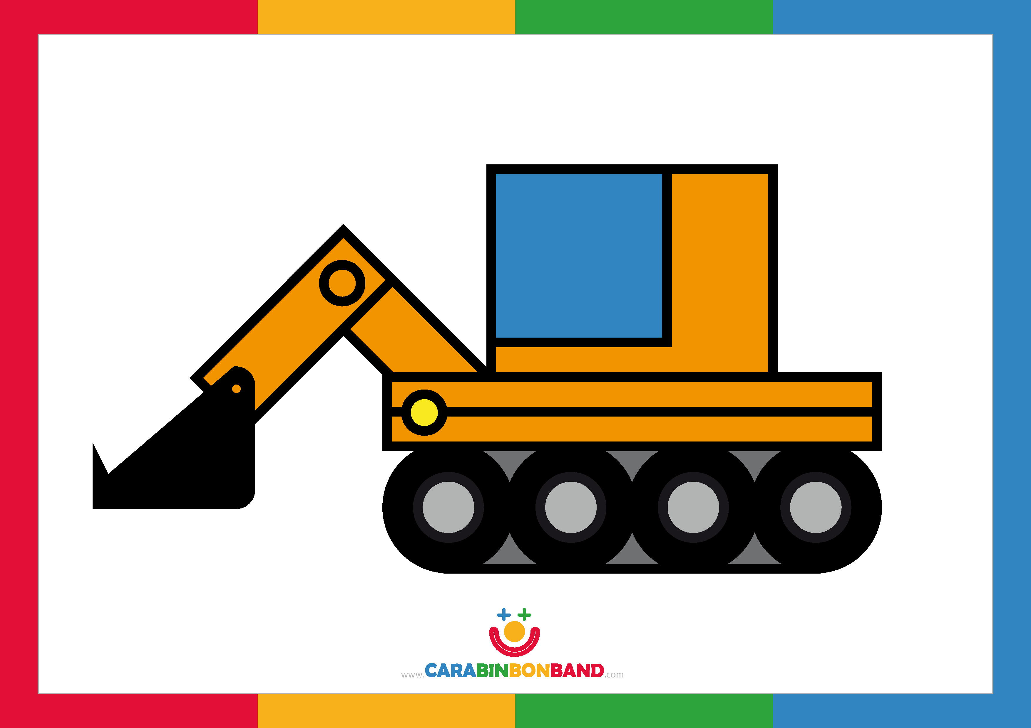 Children´s pictures: yellow excavator