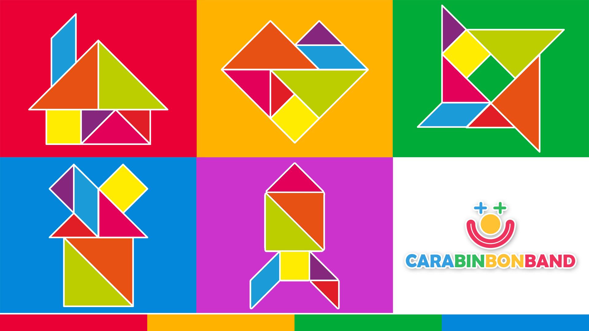 Children's Puzzles - Easy Tangram shapes for children