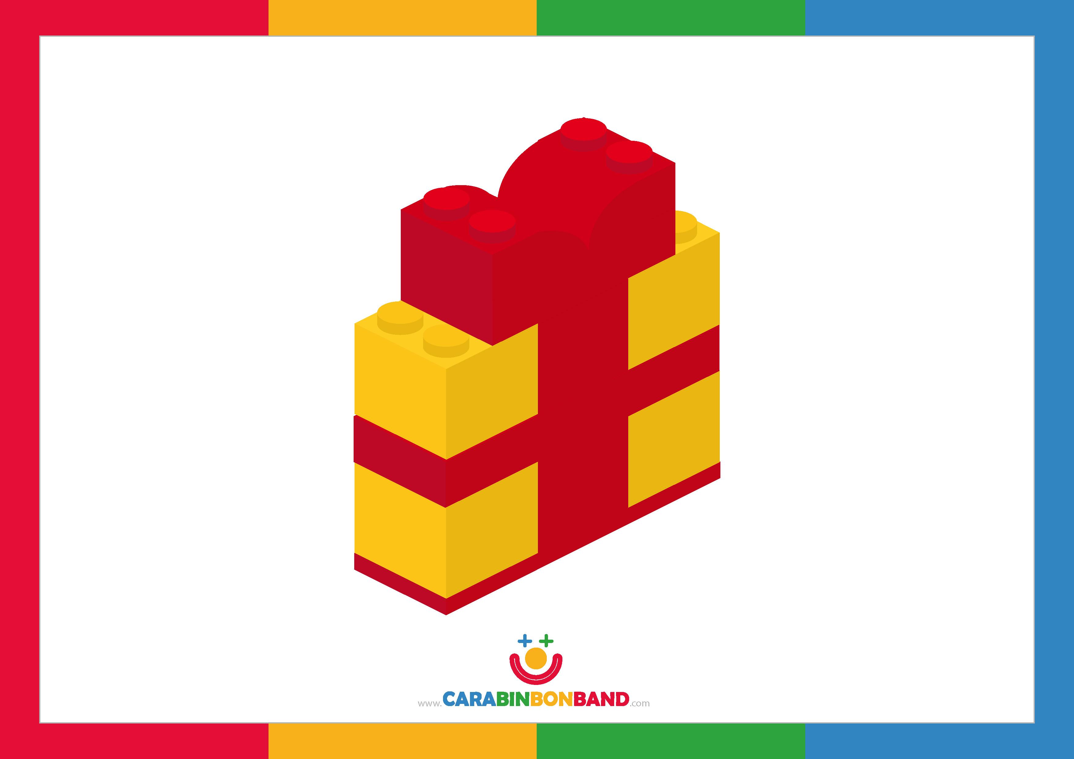 Láminas decorativas: paquete de regalo con bloques Lego