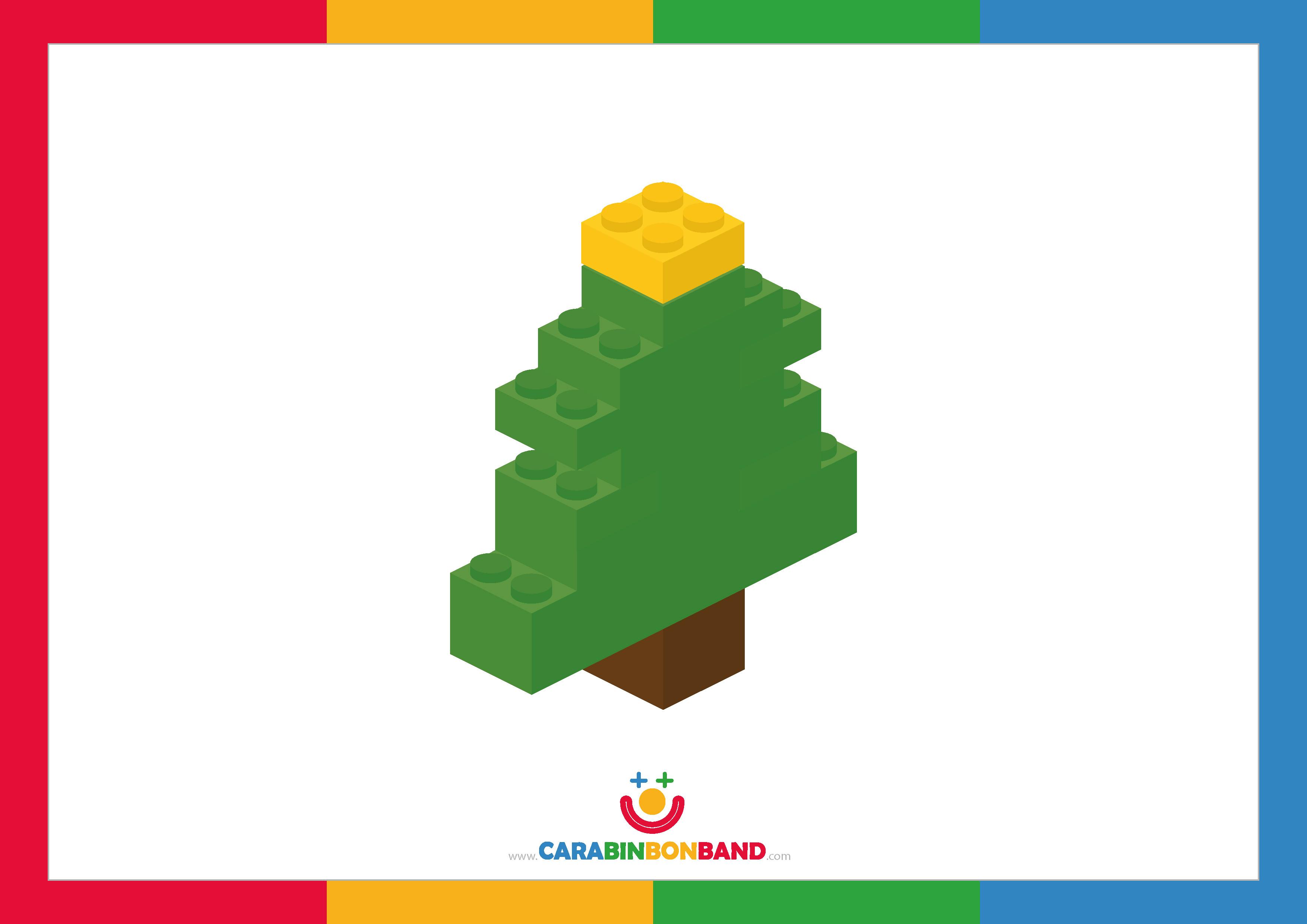 Children´s picture: Lego Xmas tree