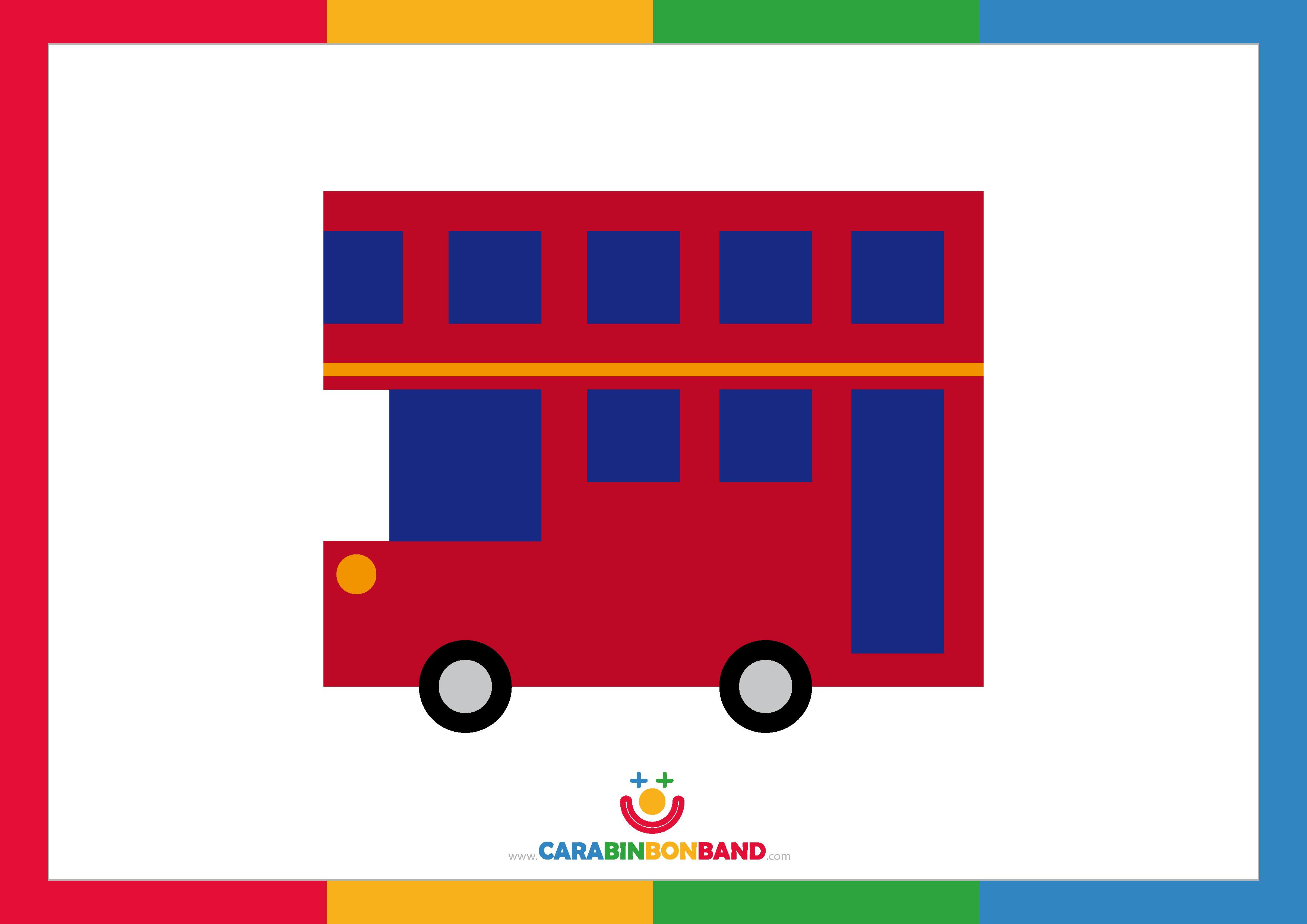 Láminas decorativas: autobus londinense de dos plantas