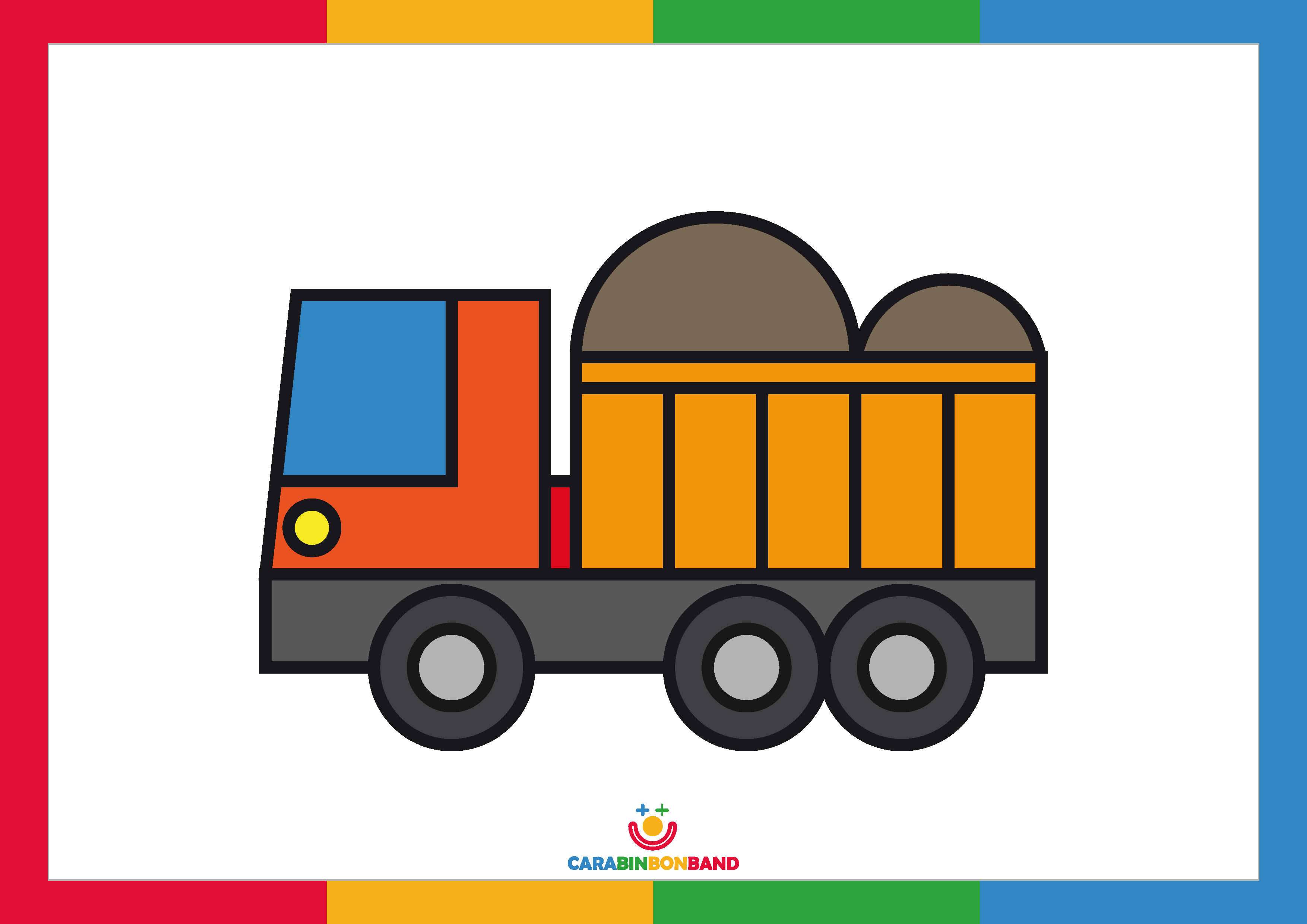 Children´s picture: construction truck