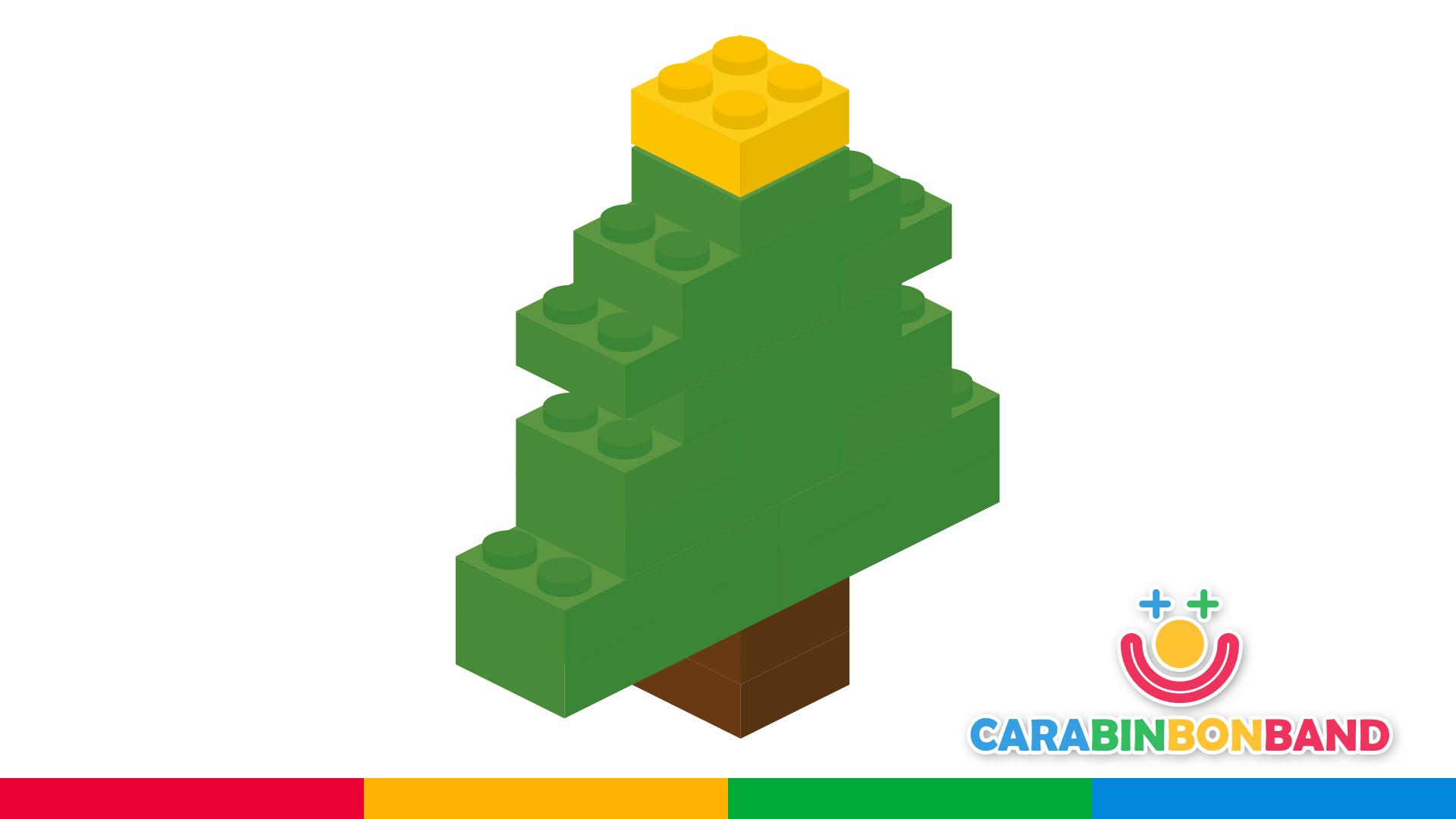 Construcciones LEGO fáciles para niños - cómo hacer un árbol de Navidad