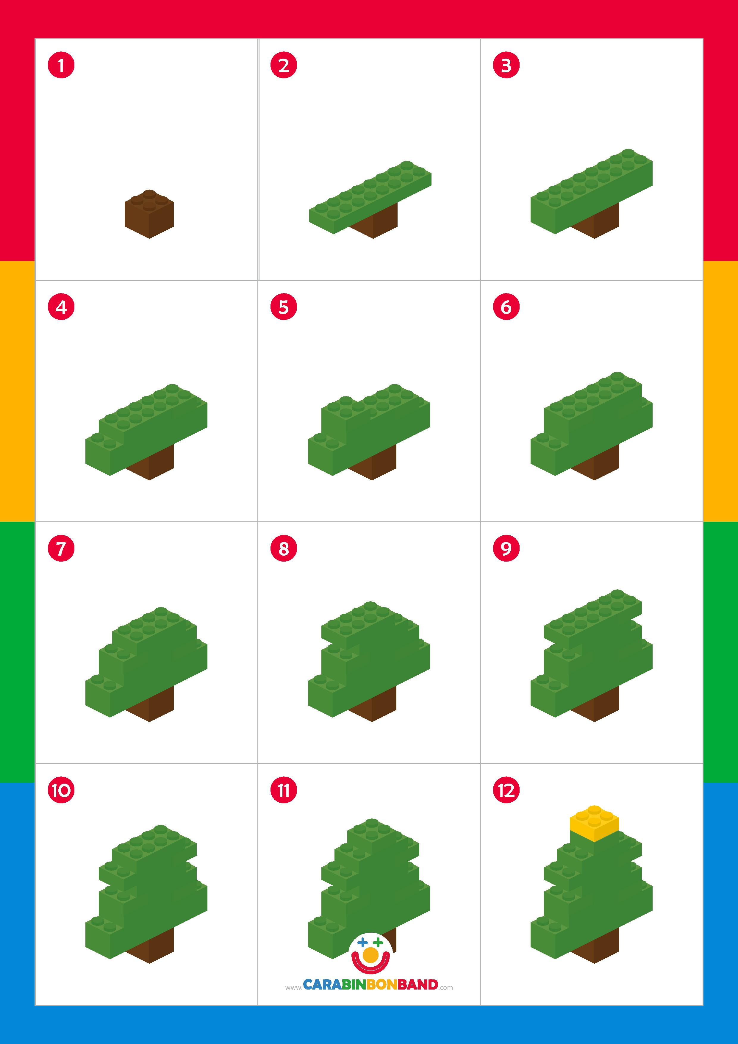 Tutorial LEGO: árbol de navidad