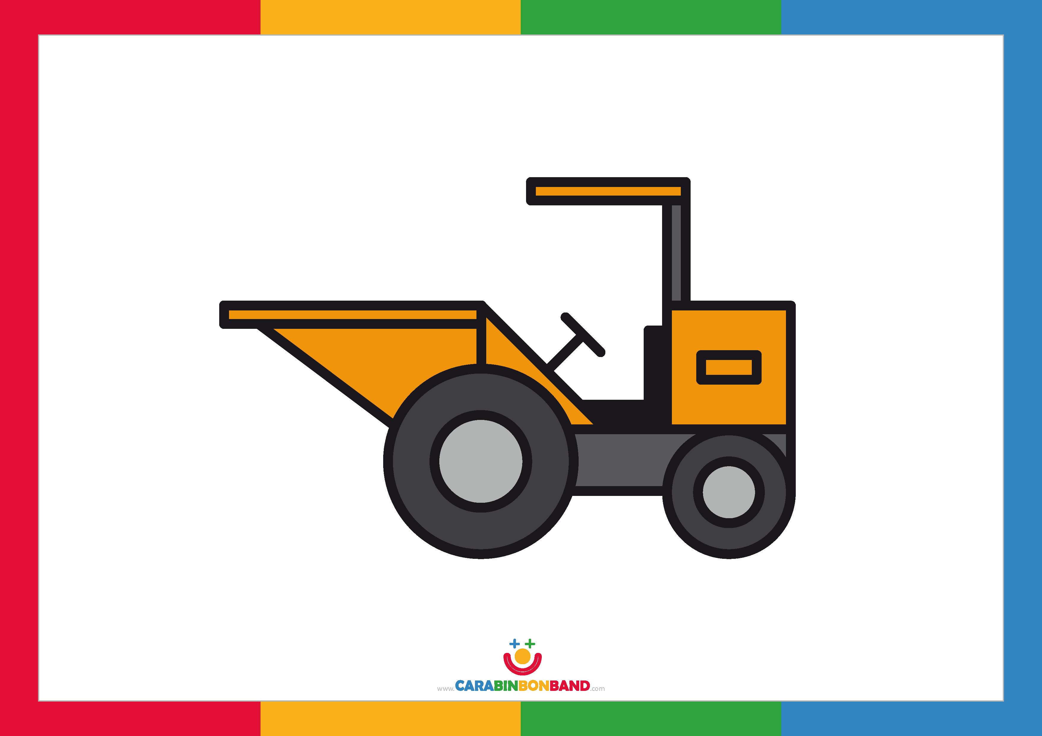 Children´s picture: construction dumper