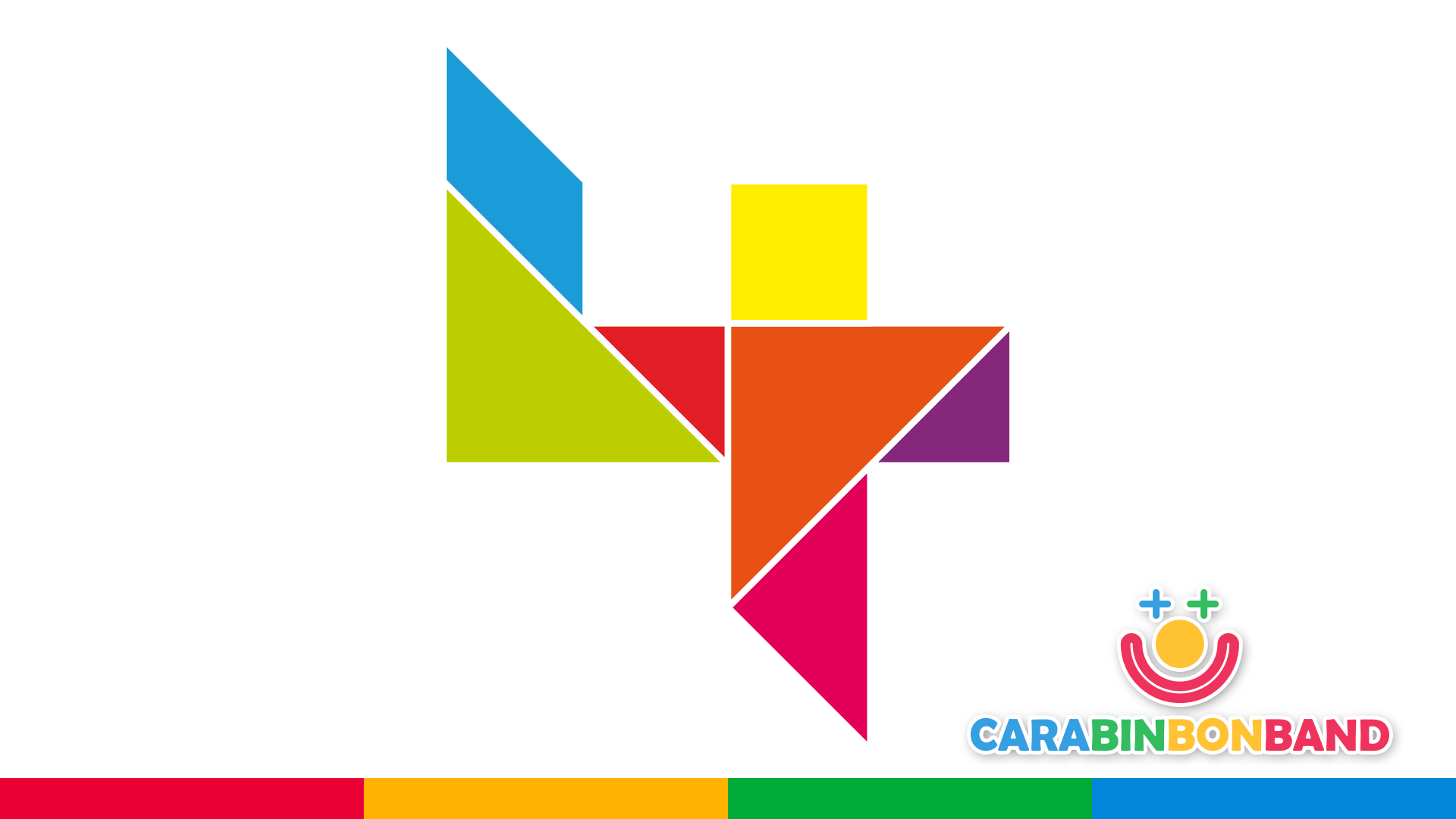 Puzzles for kids - children's numbers - how to construct number 4 in Tangram