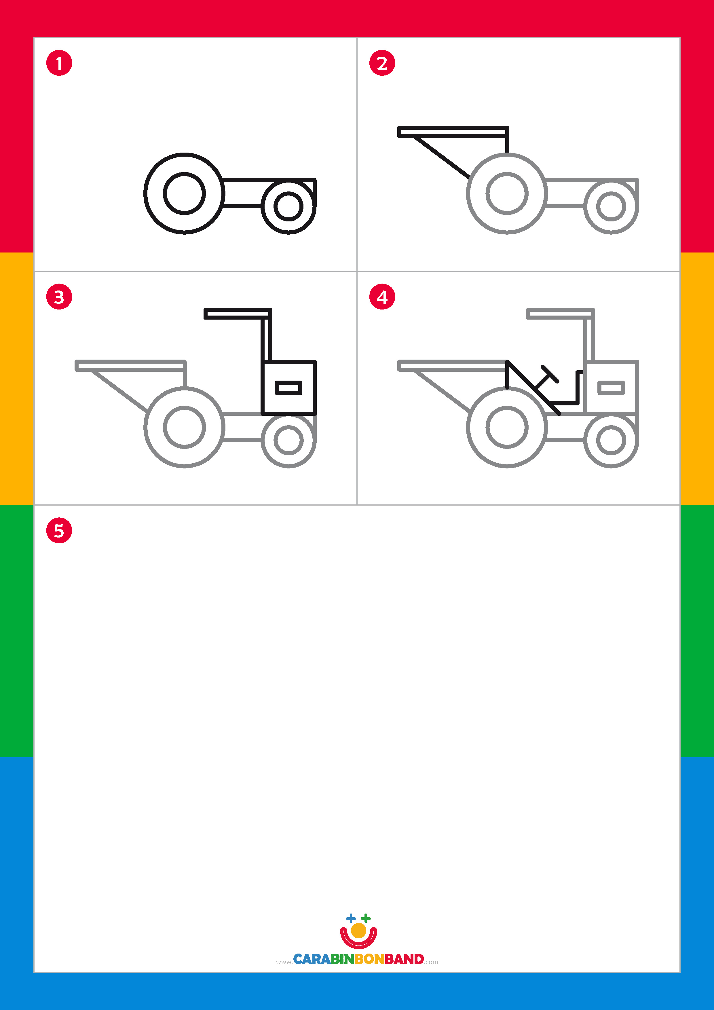 Tutoriales de dibujo: dumper fácil para niños