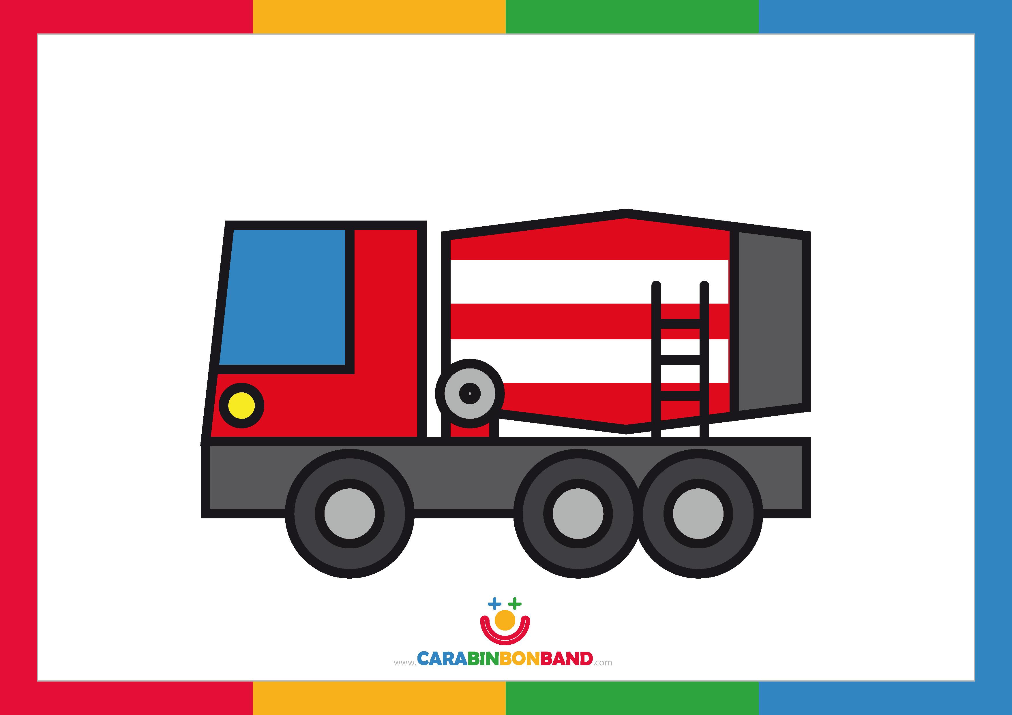 Láminas decorativas: camión hormigonera