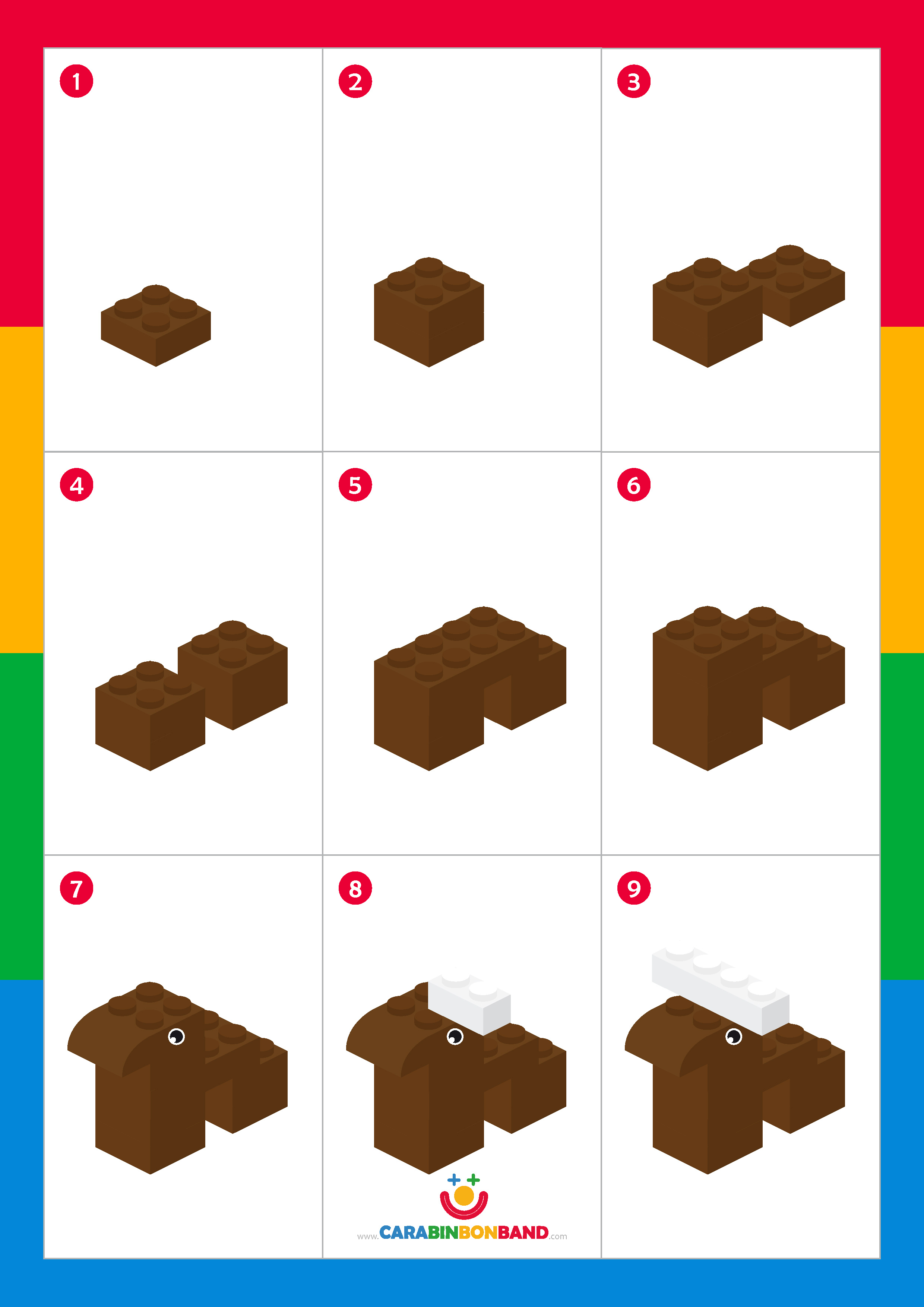 Tutorial LEGO: reno navideño