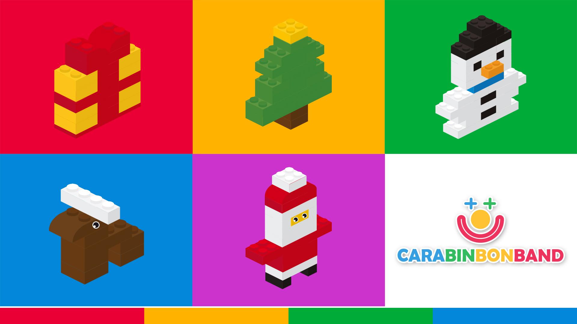 LEGO fácil para niños - cómo hacer adornos de Navidad con bloques LEGO