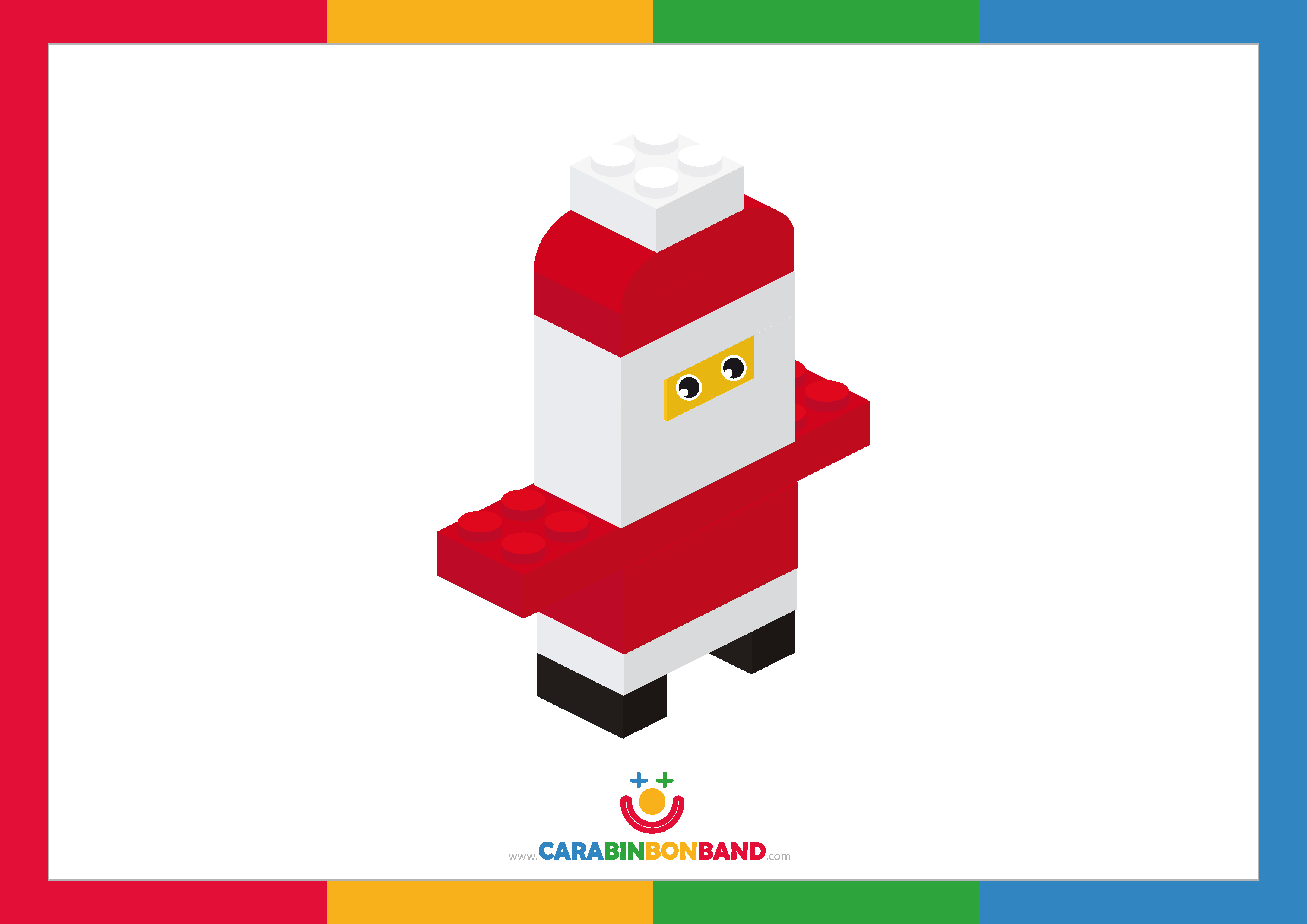 Láminas decorativas: Santa Claus con bloques Lego