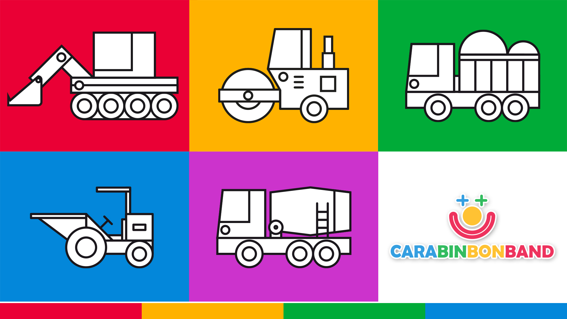 Construction vehicles for children - how to draw easy construction machines