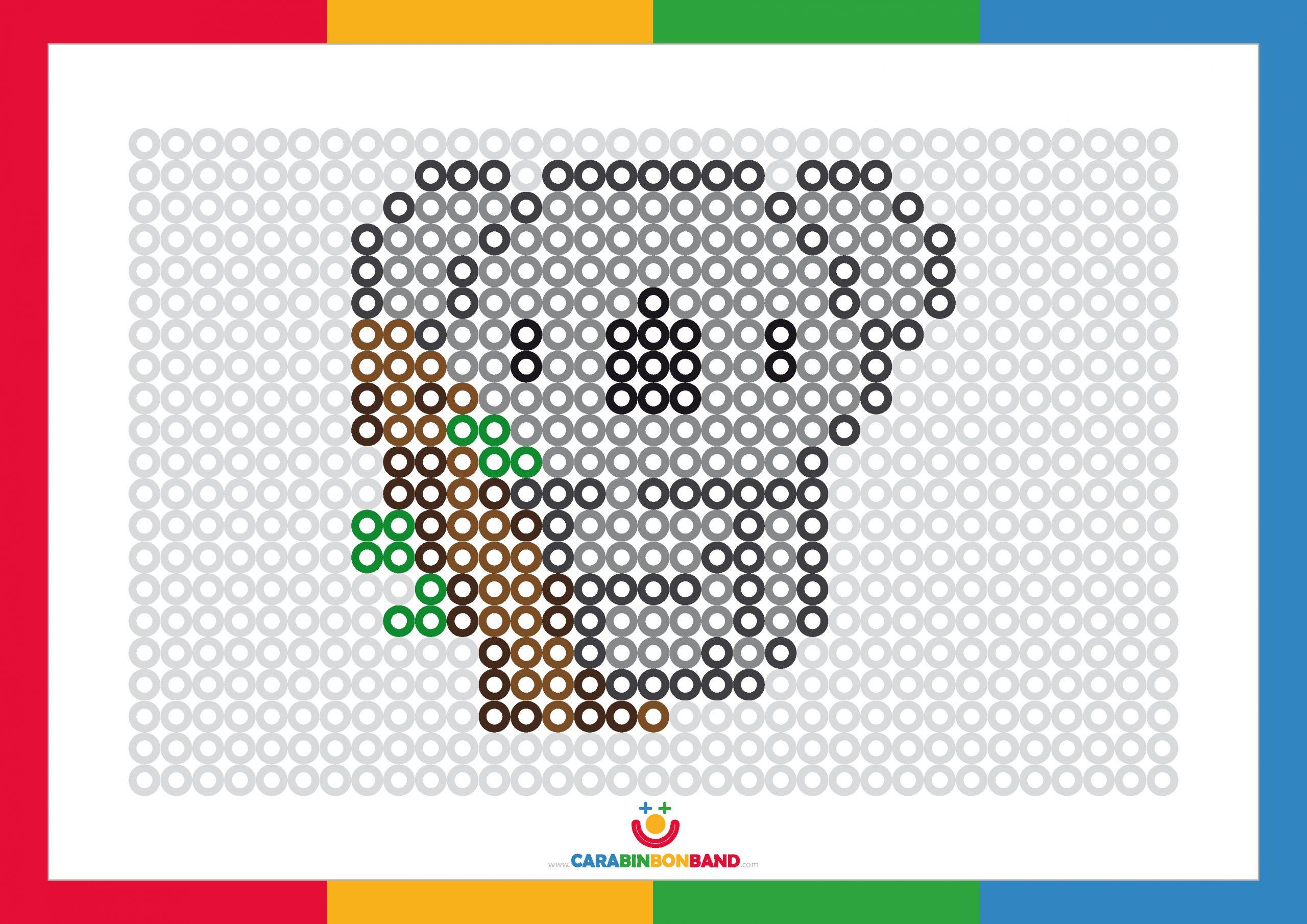 Fichas de puntos para colorear: koala