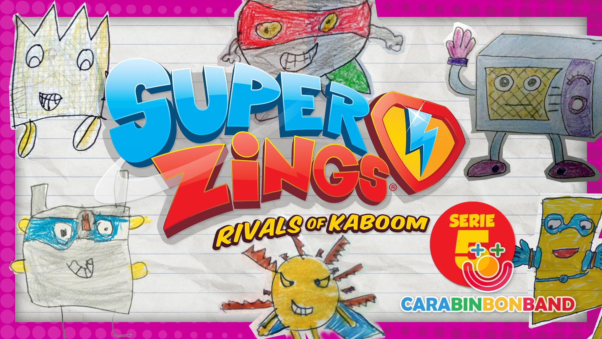 SUPERZINGS SERIE 5 inventada por los niños - dibujos de Superzings