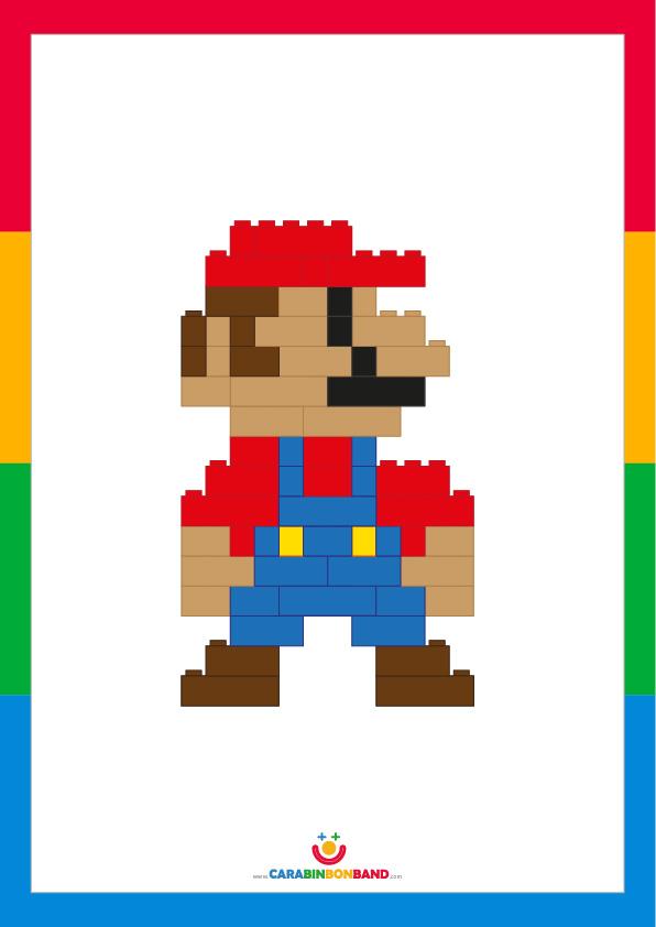 Children´s picture: Lego Mario Bros 8 bits