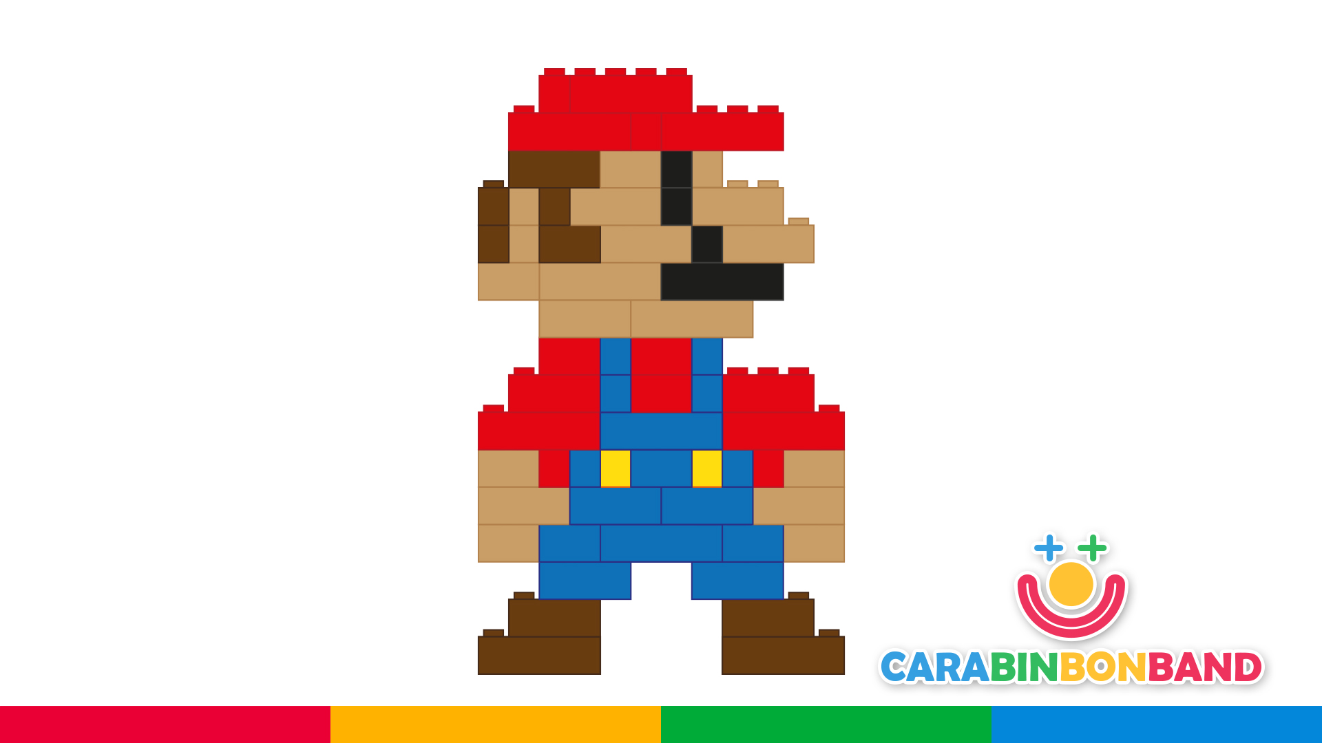 Easy LEGO games for kids - how to make Mario Bros with LEGO blocks