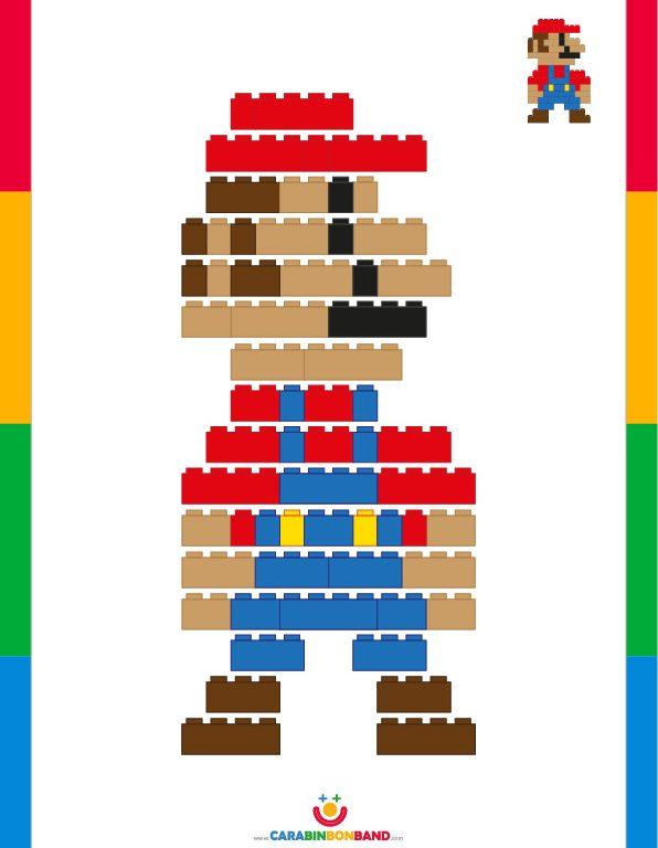 LEGO Tutorial: how to make Mario Bros - CARA BIN BON BAND