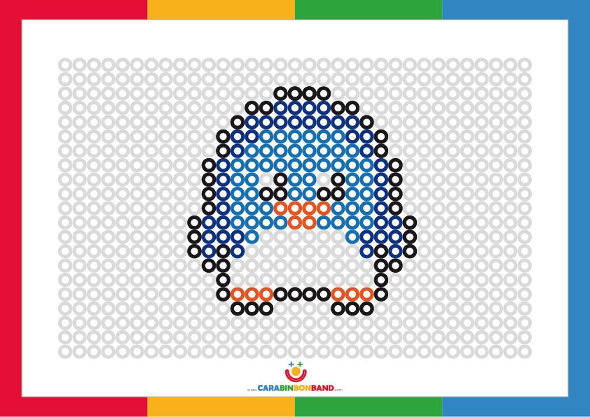 Fichas de puntos para colorear: pingüino