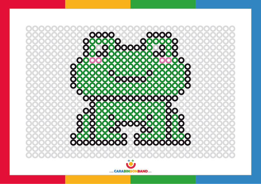 Coloring sheets: frog made of dots