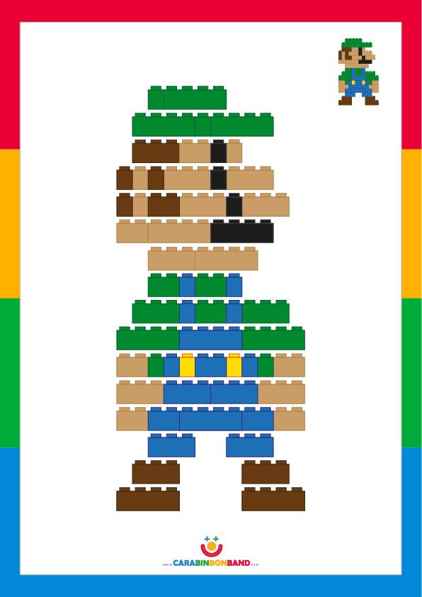 LEGO Tutorial: how to make Luigi Bros