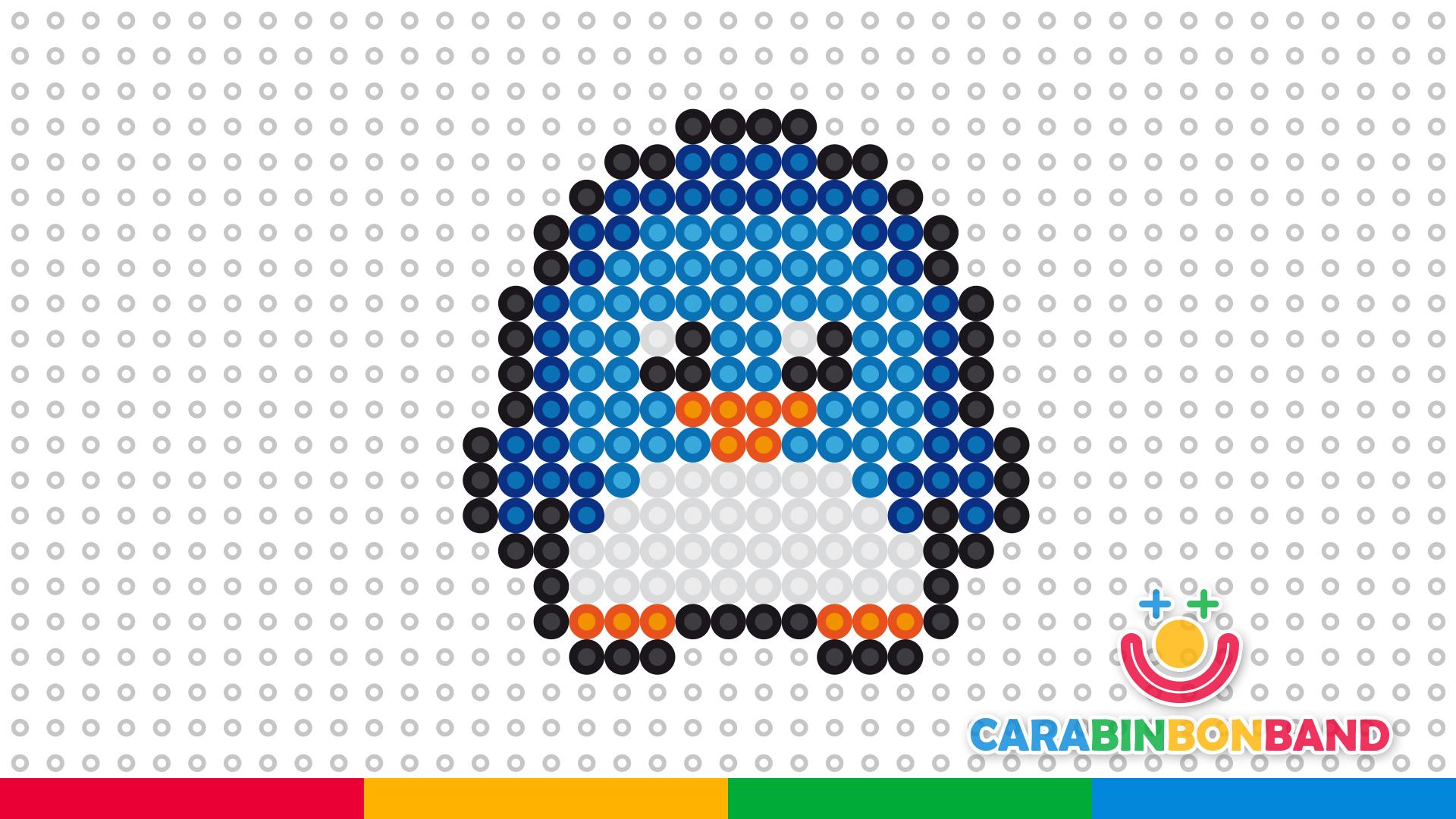 Tutoriales perler hama beads animales - pingüino kawaii