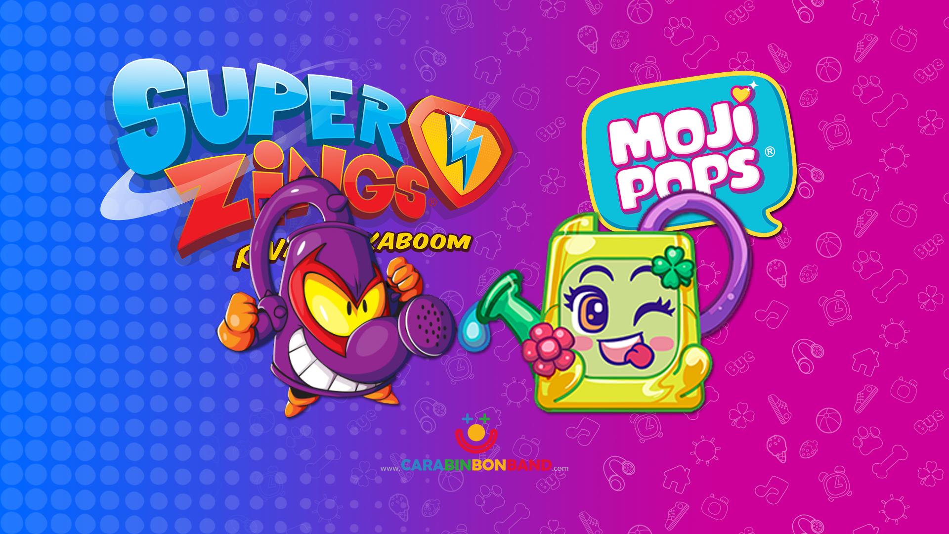 Comparando MOJIPOPS Serie 2 y SUPERZINGS - Mismos objetos
