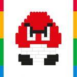 Children´s picture: Goomba (Mario Bros) 8 bits
