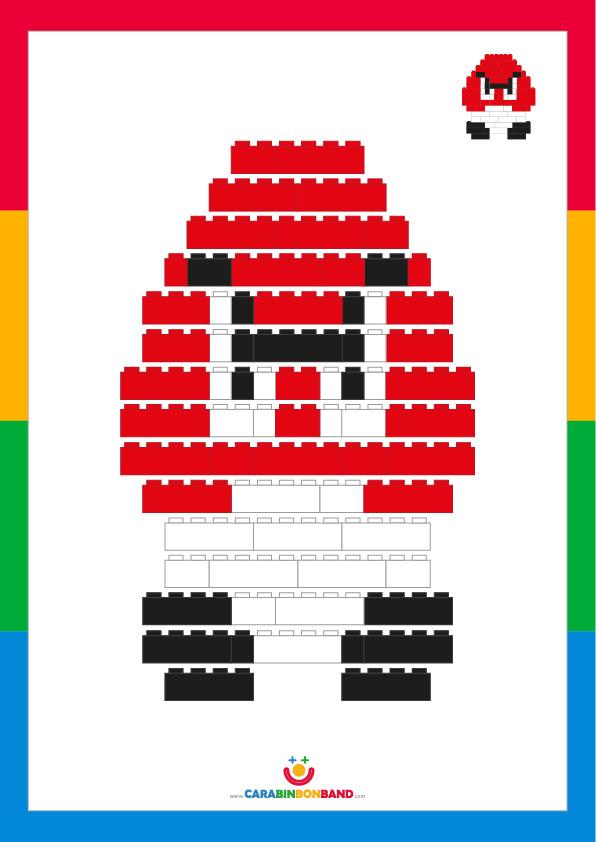 Tutorial LEGO: cómo hacer a Goomba, enemigo de Mario Bros