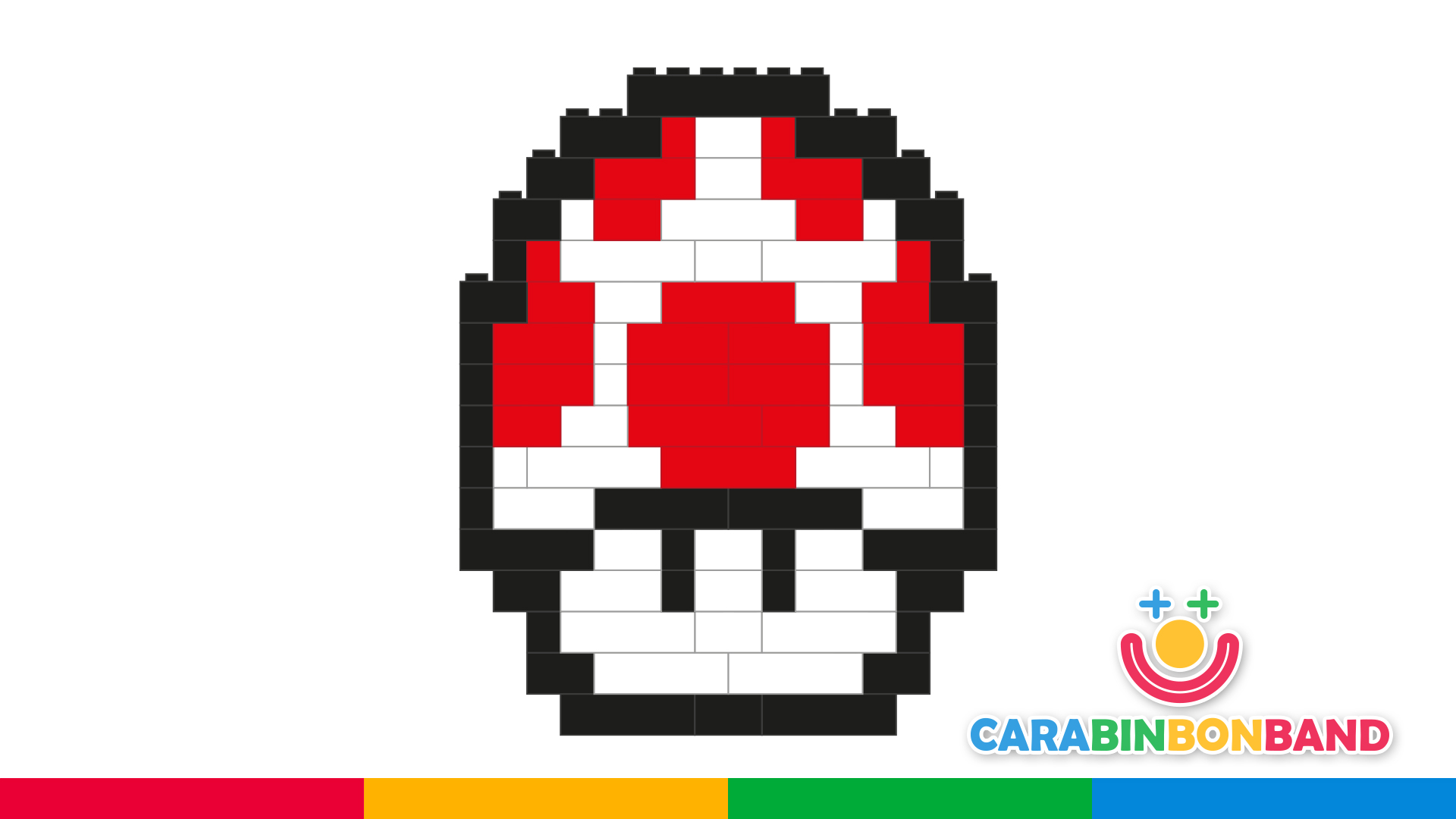 Easy LEGO for children: how to make Toad, the mushroom of Mario Bros