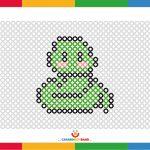 Coloring sheets: snake made of dots