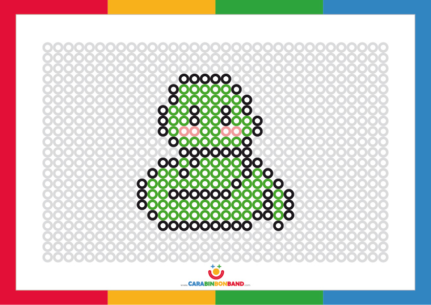 Fichas de puntos para colorear: serpiente
