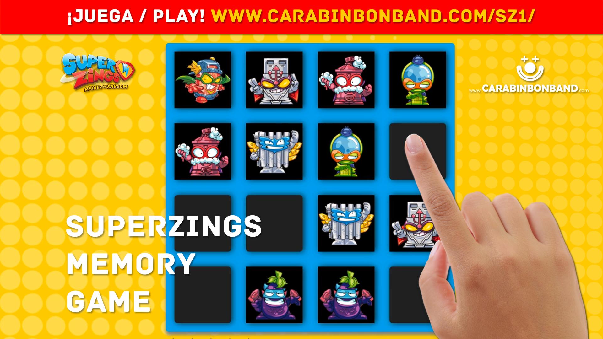 SUPERZINGS MEMORY GAME - ¿Podrás encontrar los personajes iguales?