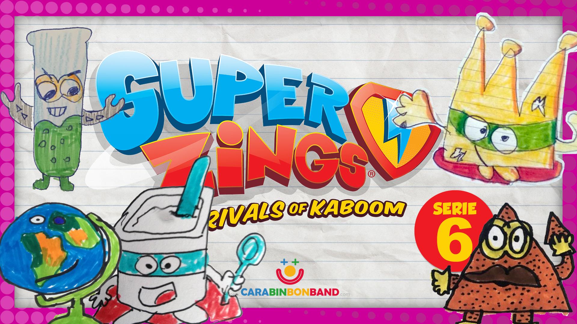 SUPERZINGS SERIE 6 inventada por los niños PARTE 1 - dibujos de Superzings
