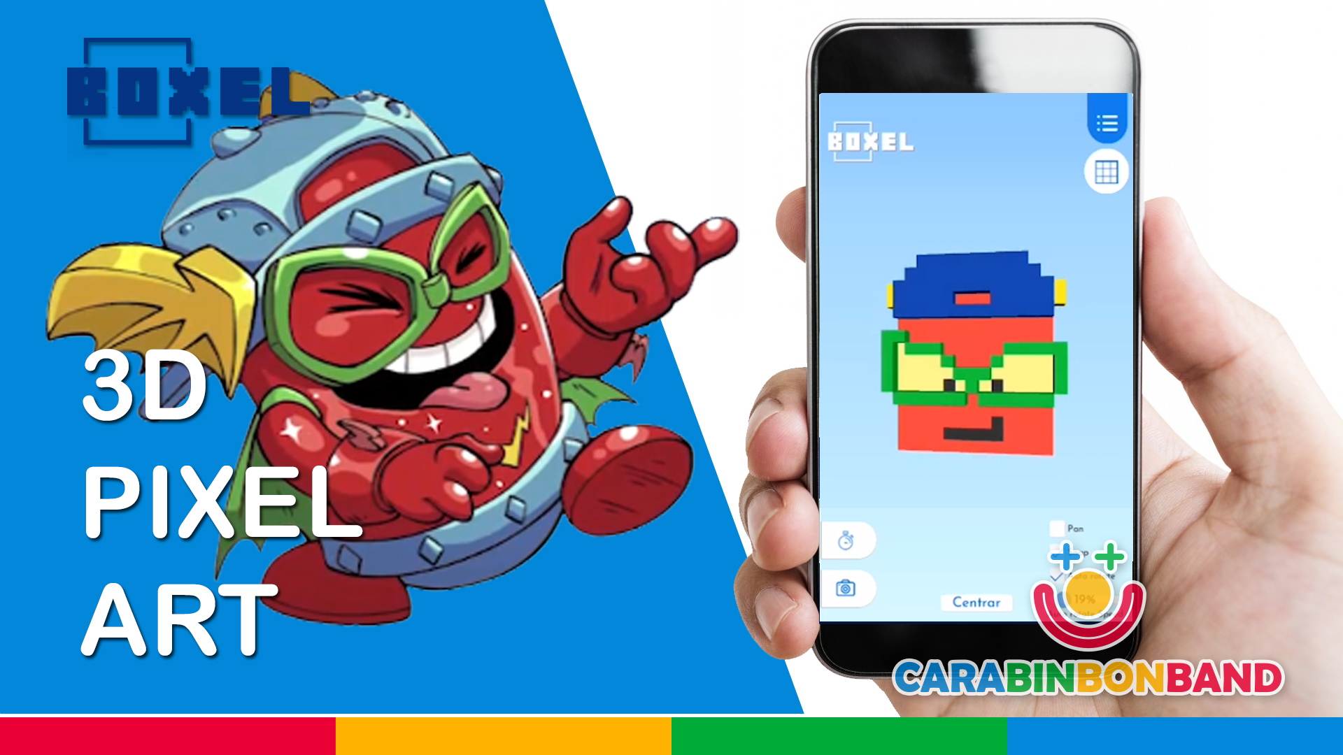 3D FOR KIDS - We test BOXEL and make  Kid Fury (SUPERZINGS) - PixelArt