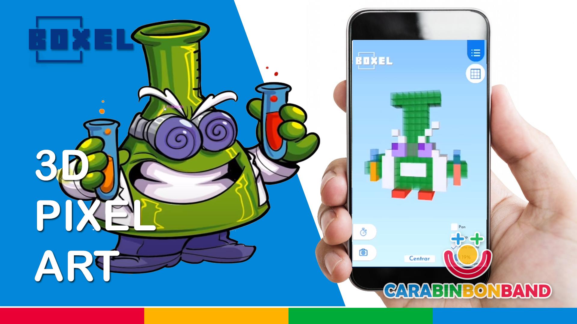 BOXEL - 3D FOR KIDS - K PROFESSOR OF SUPERZINGS - PixelArt