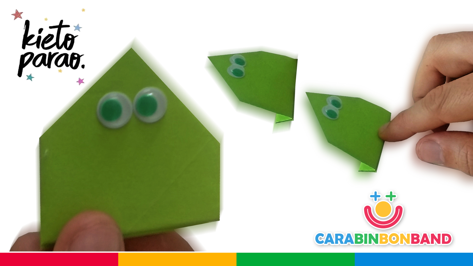 ORIGAMI: easy paper JUMPING FROG for children