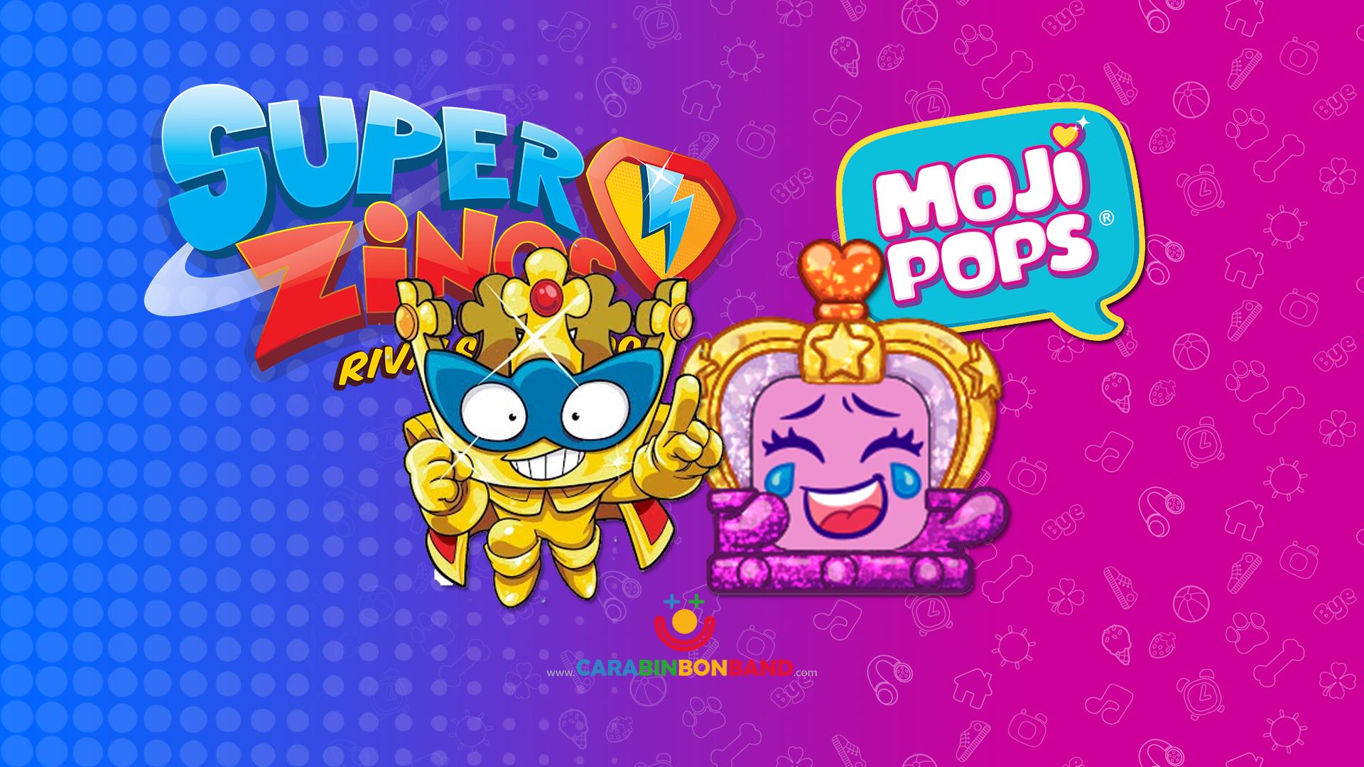 Comparando MOJIPOPS Serie 2 y SUPERZINGS - Mismos personajes