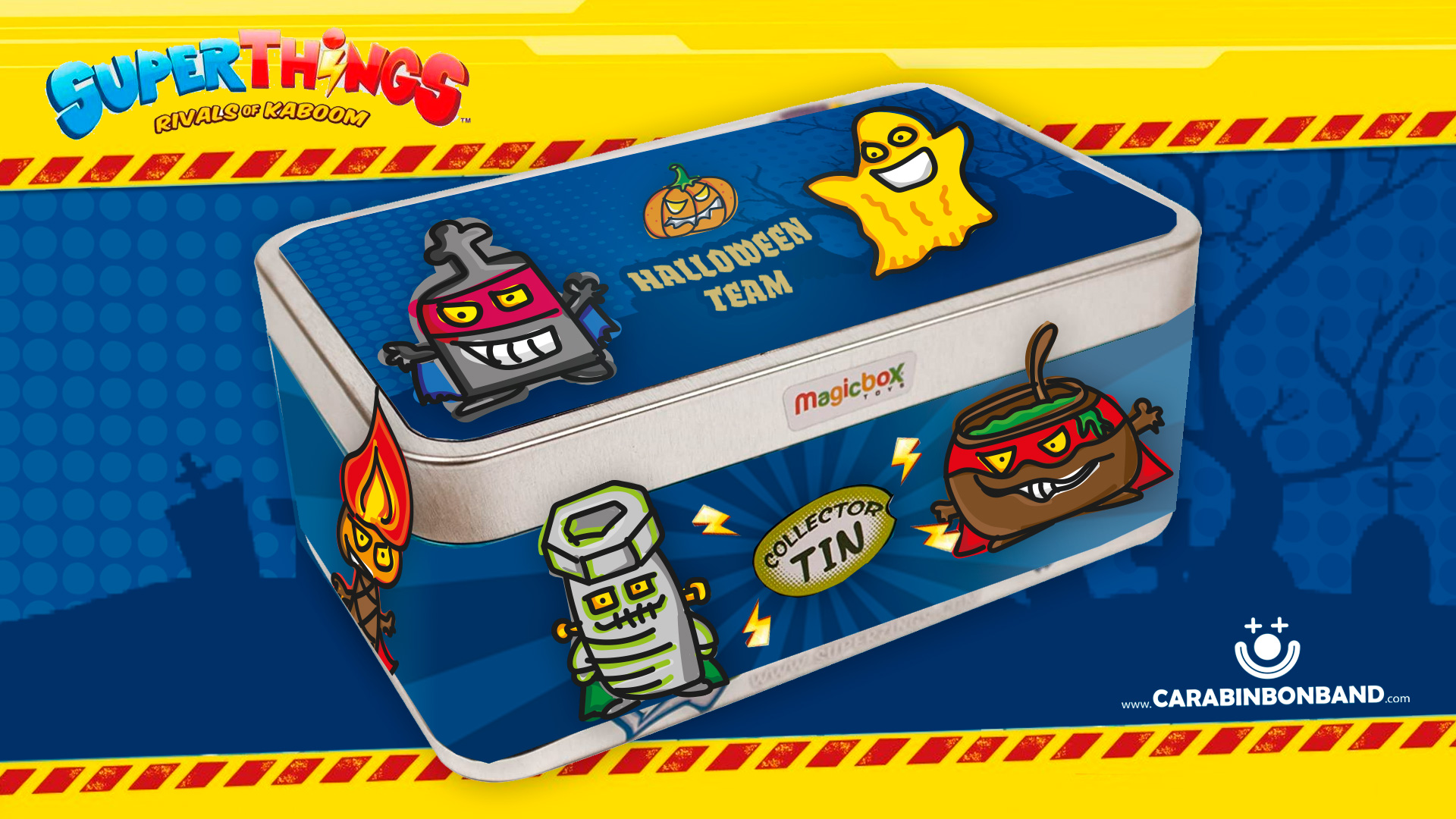 SUPERZINGS HALLOWEEN TEAM - INVENTED TIN OF MONSTERS SUPERTHINGS